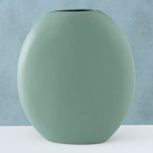 Vaza decorativa din ceramica Matteo Verde, L26xl8xH32 cm imagine