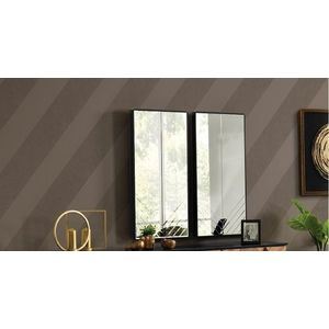 Set 2 oglinzi decorative din pal Monaco Negru, l51xH102 cm imagine
